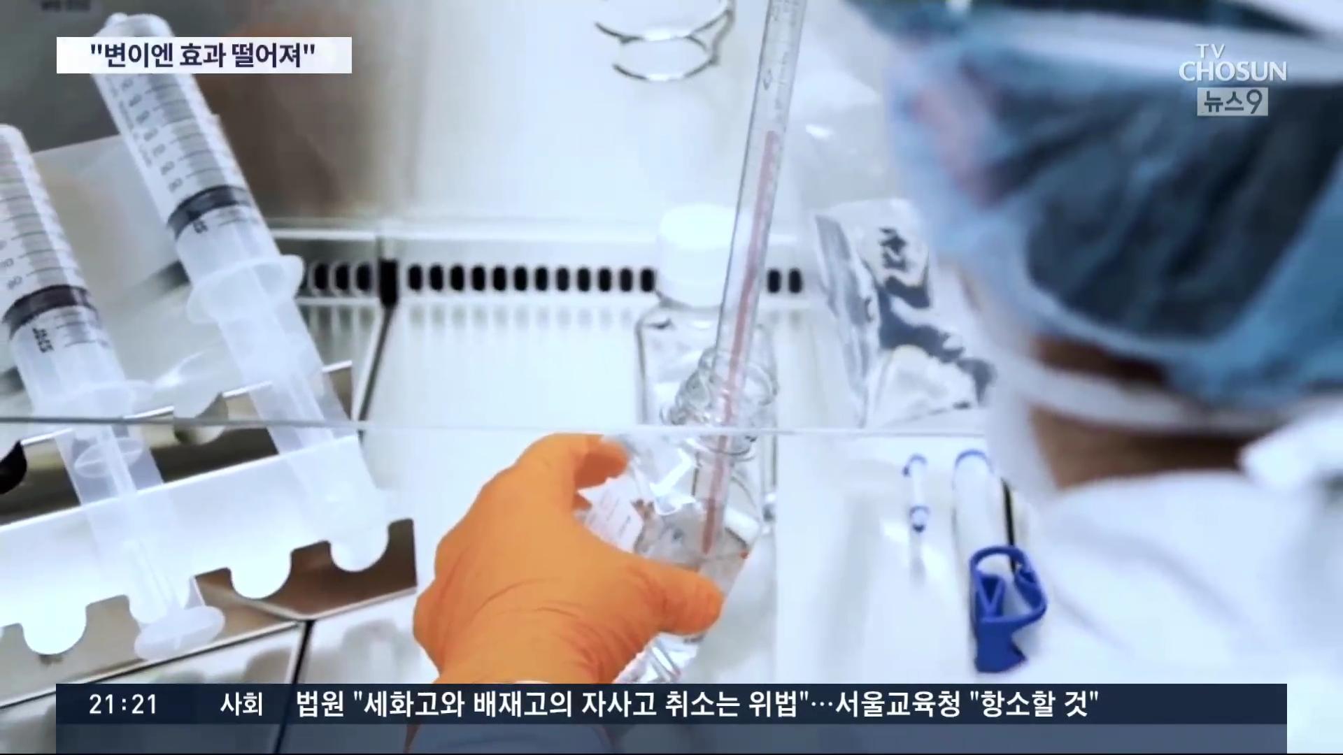 기존 백신들, 변이 바이러스에 효과 3분의2 이상 감소