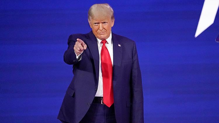 트럼프, 퇴임 39일만에 첫 공개연설…차기대선 출마 가능성 시사