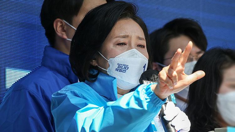 박영선 지지연설 '평범한 20대'라더니 與 대변인 출신