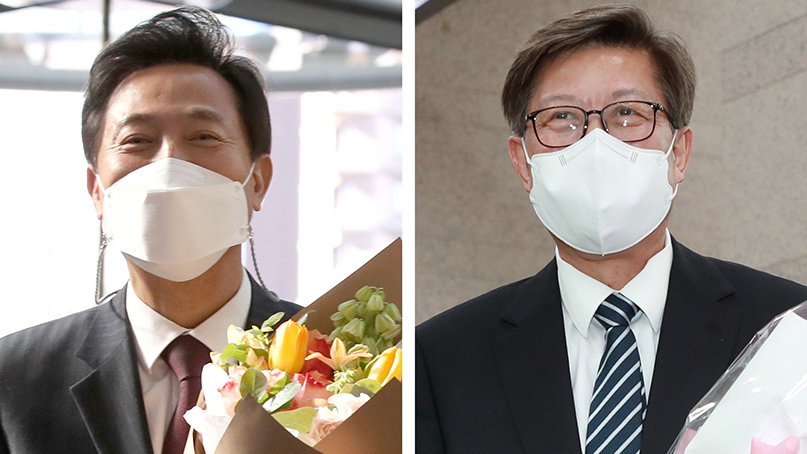 '10년 만에 복귀' 오세훈 '安과 정책 공조'…박형준 '협치 시정'