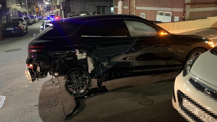 음주운전 20대, 사고 낸 뒤 뒷바퀴 빠진 채 14㎞ 도주