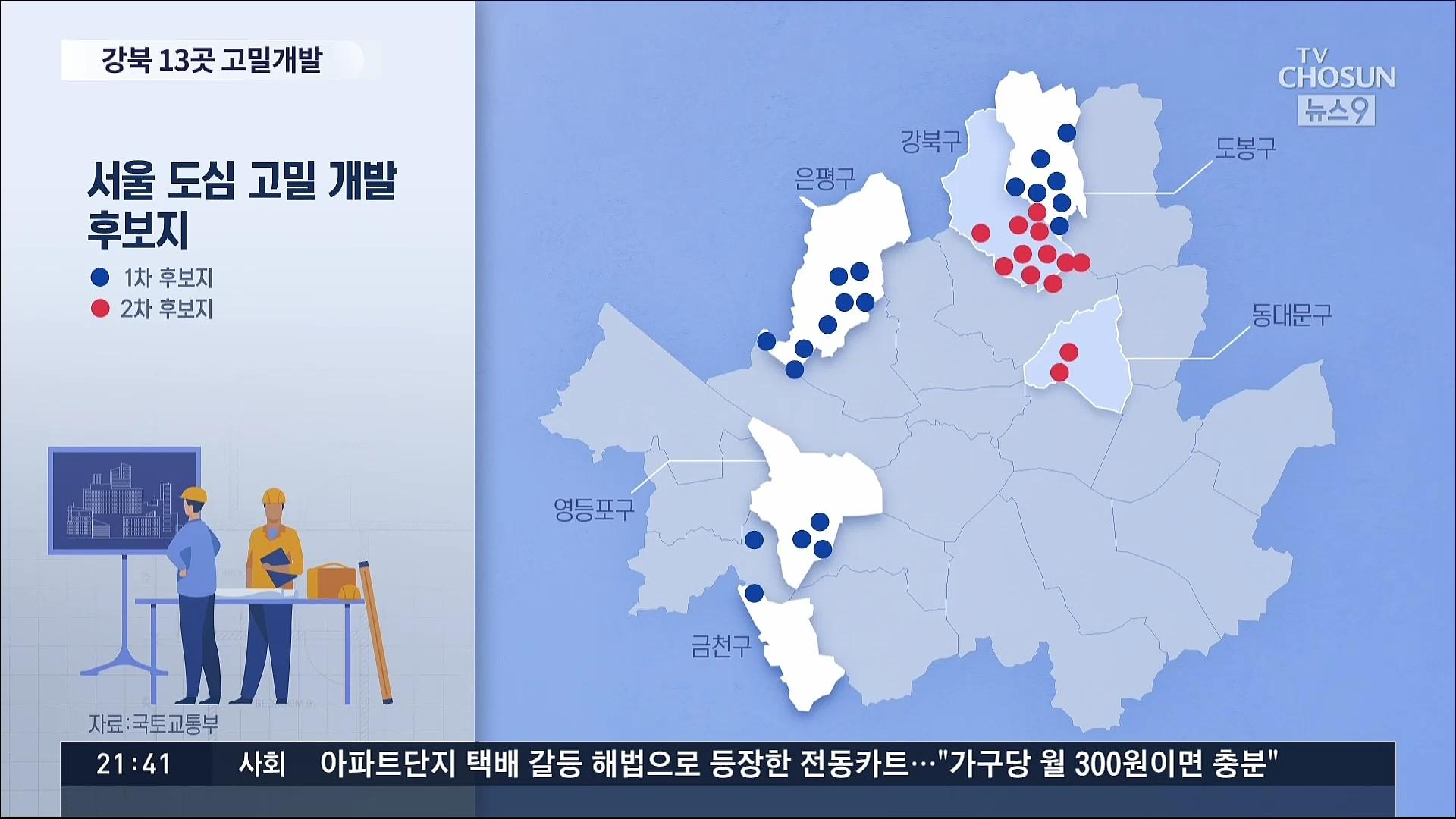 도심고밀개발 2차 후보지도 강북 13곳…강남권 물량 無