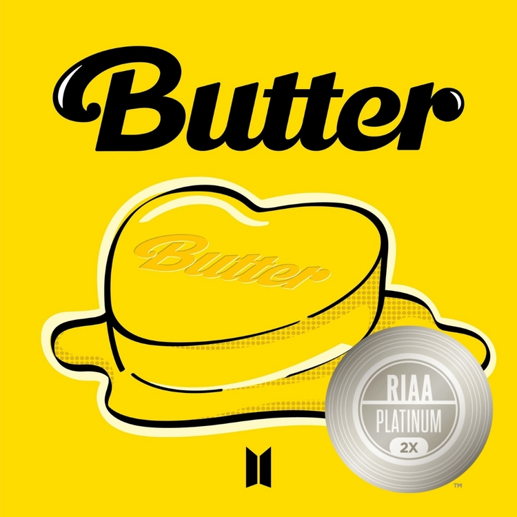 BTS '버터', 미국 레코드산업협회 '더블 플래티넘' 인증