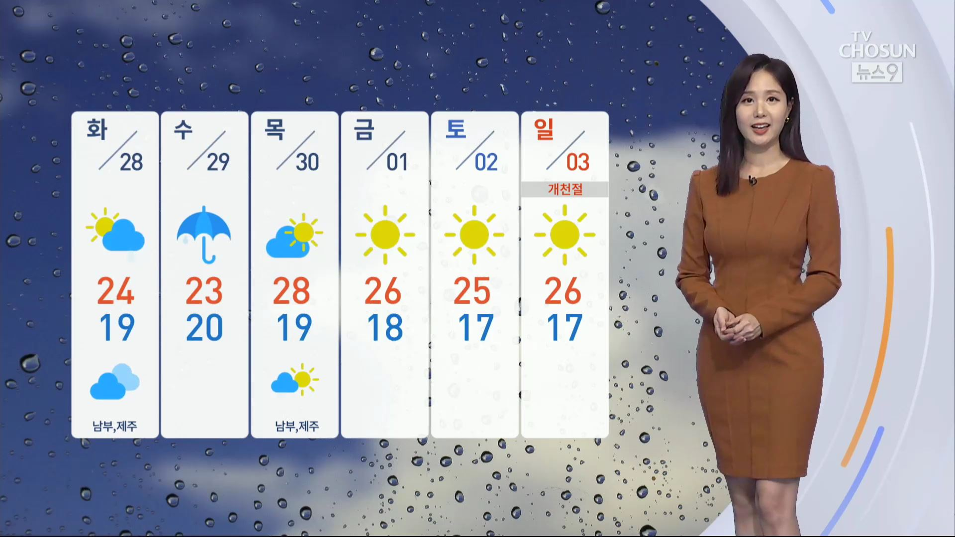 [날씨] 흐리고 선선한 화요일…오후부터 차차 비
